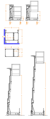 FARAONE ELEVAH 70 lagana radna platforma 7.2 mt radne visina
