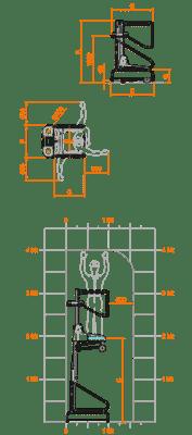 FARAONE ELEVAH 40B lagana radna platforma 4 mt radne visina
