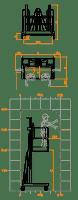 FARAONE ELEVAH 400XL lagana radna platforma 6.1 mt radne visina