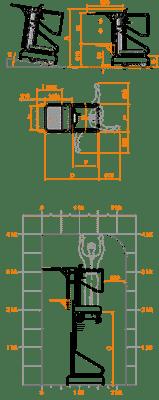 FARAONE ELEVAH 40 MOVE PICKING  lagana radna platforma 4 mt radne visina