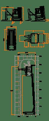 FARAONE ELEVAH 65 MOVE PICKING VERS. PF1 lagana radna platforma 6,6 mt radne visina