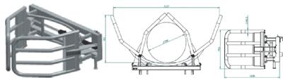 Hvataljke za bale s jednim cilindrom- D101 (podiznost 1 tona)