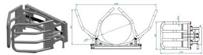 Hvataljke za bale PRO s dva cilindra- D105 (podiznost 1 tona)