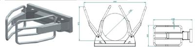Hvataljke za bale s pokrivenim cilindrom- D106 (podiznost 1 tona)
