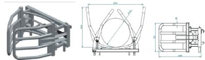 Hvataljke za bale EKO- D107 (podiznost 1 tona)