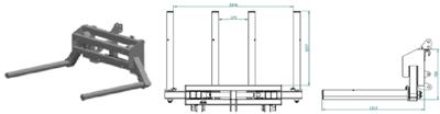 Transporter za bale- D201 (podiznost 1 tona)