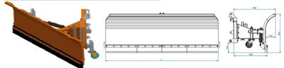 Uski lagani snježni plug G301 (II kategorija)