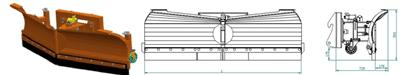 Lagani varijabilni snježni plug G202 (I kategorija)