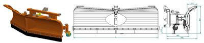Varijabilni snježni plug G302 (Nosač 400)