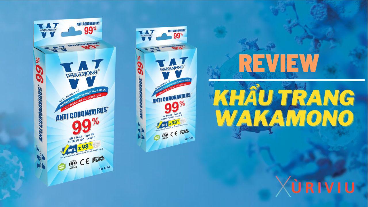 review khẩu trang wakamono