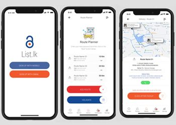 List.lk Delivery Connect App