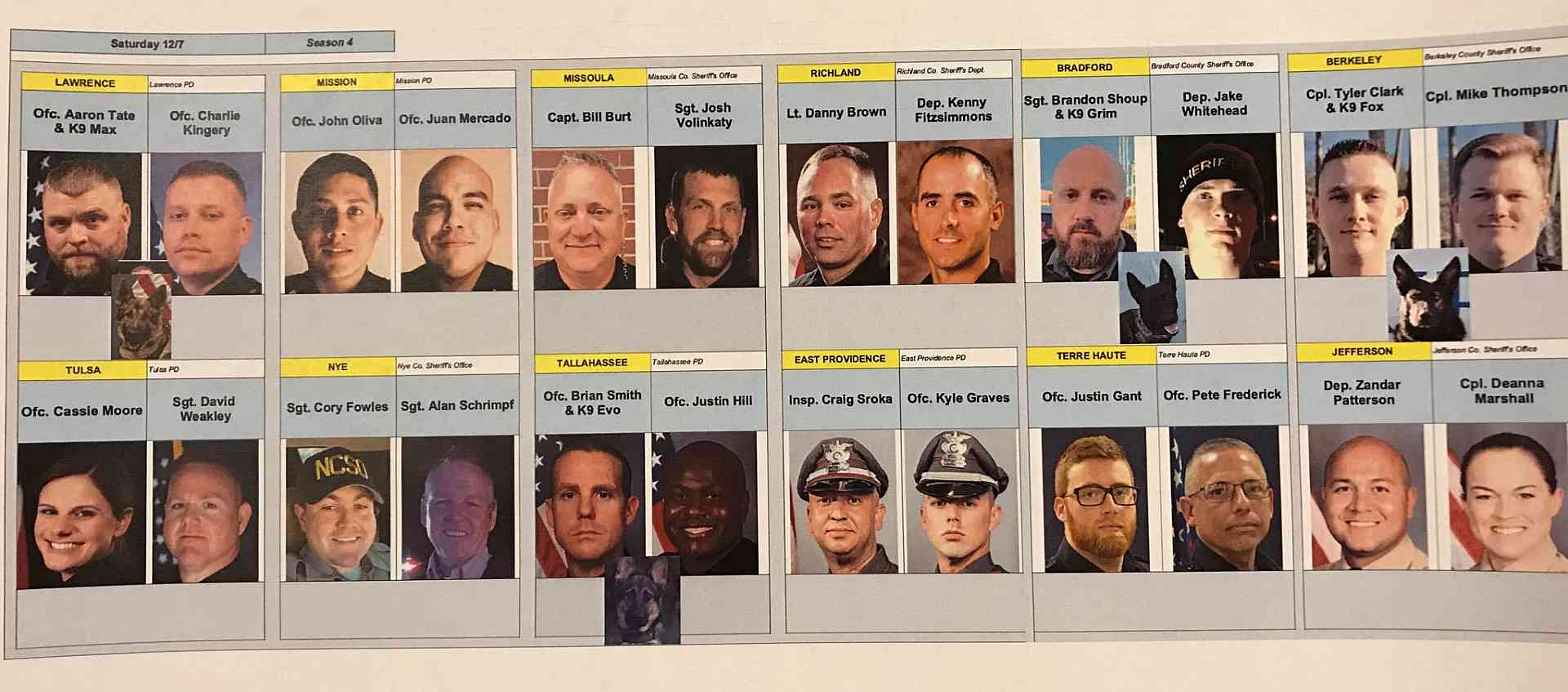 Live PD 12.07.19 Officers