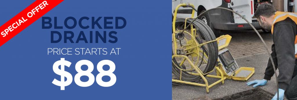 Blocked Drains service @ $88