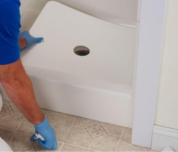 Declined seal of your shower tray waste pipe and the shower tray