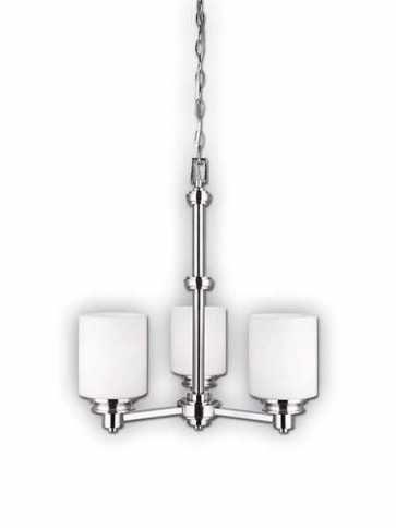canarm crawford 3 lights brushed nickel chandelier ich625a03bn