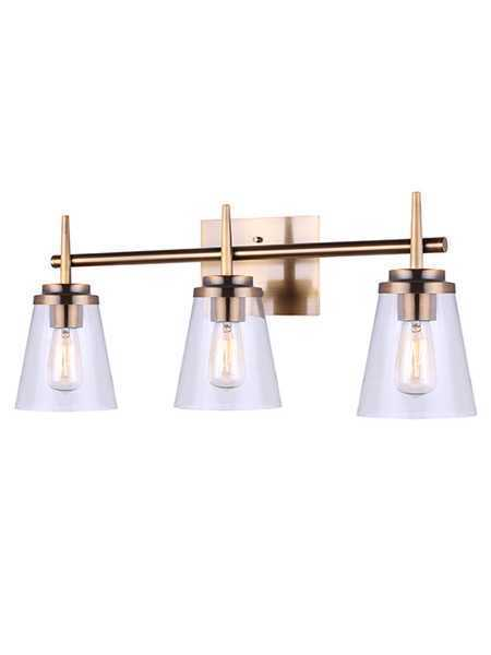 sneakers for cheap 5a905 99c5d Canarm Ivl703A03Gd Perla 3-Lights 300W Gold Vanity Light