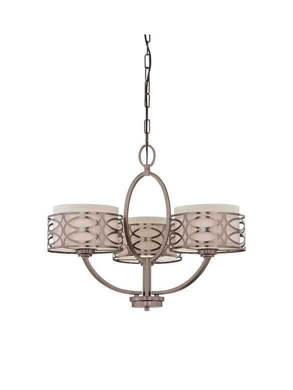 Nuvo Lighting Harlow 60 4724 3 Light Hazel Bronze Chandelier