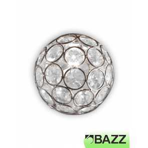 bazz lubik frosted glass and chrome lamp shade h13x02cc
