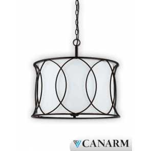 canarm monica white fabric shade ich320a03orb20