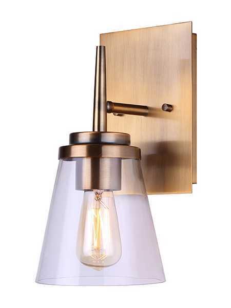 quality design cec38 b7c30 Canarm Ivl703A01Gd Perla 1-Light 100W Gold Vanity Light