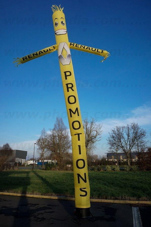 skydancer jaune renault promotion avec bras tète de bonhomme