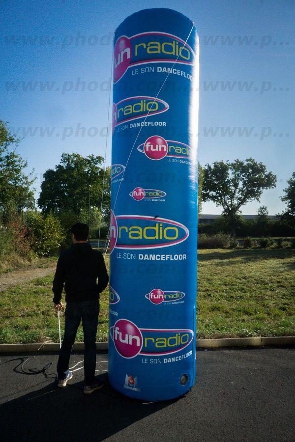 colonne totem 4m auto ventilé fun radio le son dancefloor