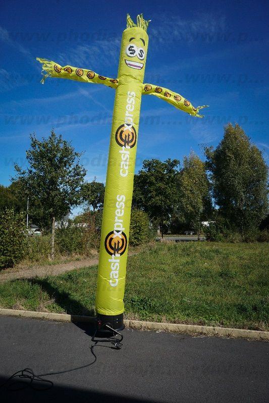 airdancer 5m cash express jaunes avec des cheveux