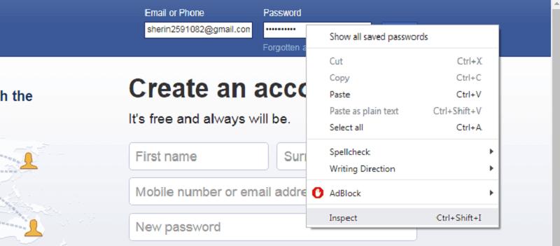 reveal asterisk password