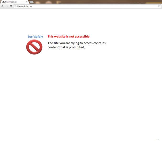 Blocked message pakistan