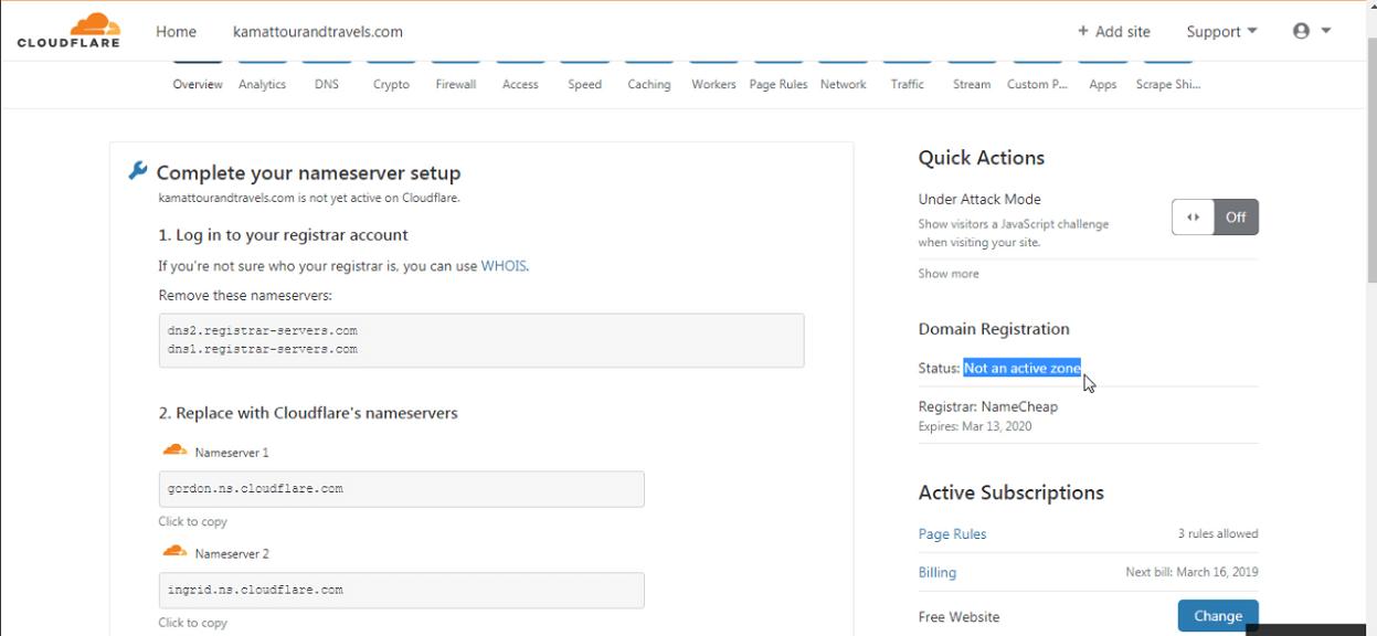 SSL certificate activate