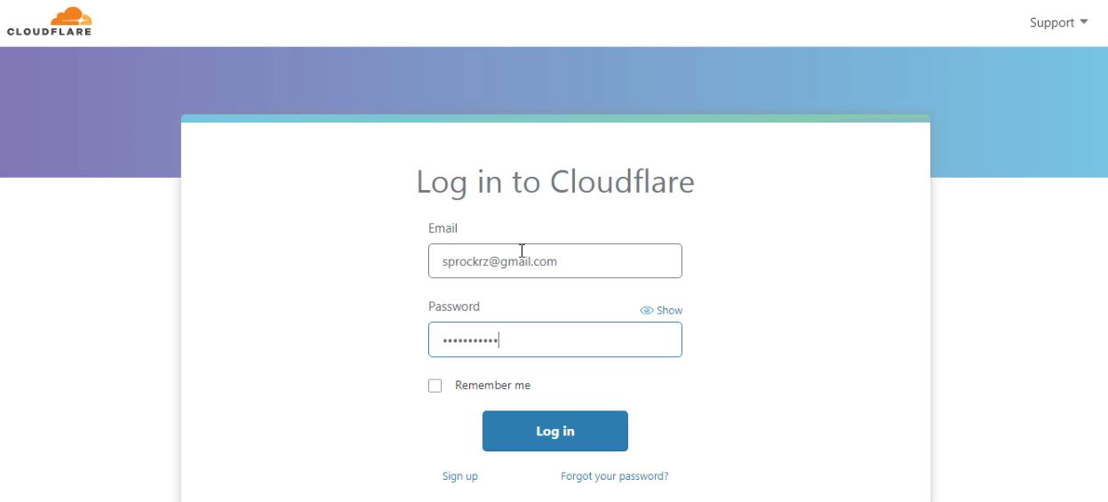 cloudflare login