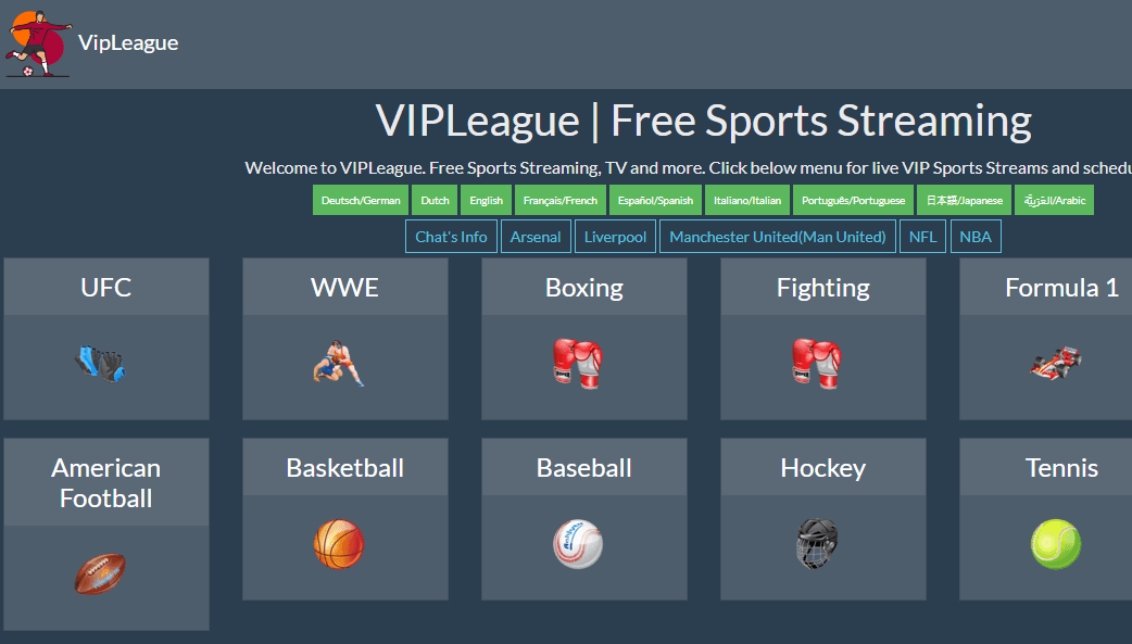 VIPLeague - best free sports streaming sites