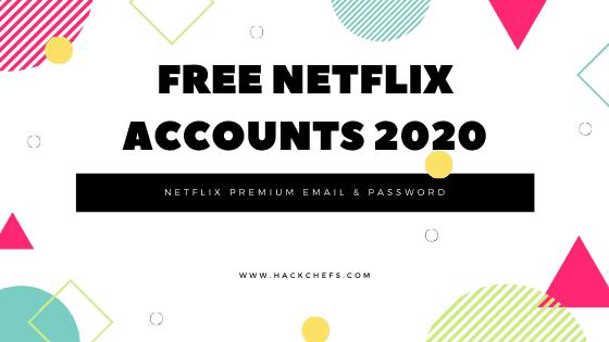 Free Netflix Accounts 2020 - 100+ Netflix Premium Email & Password