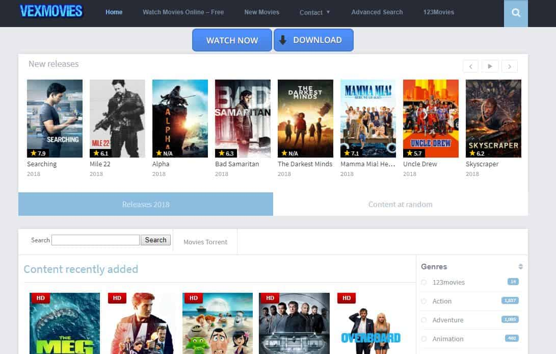 vexmovies all movies
