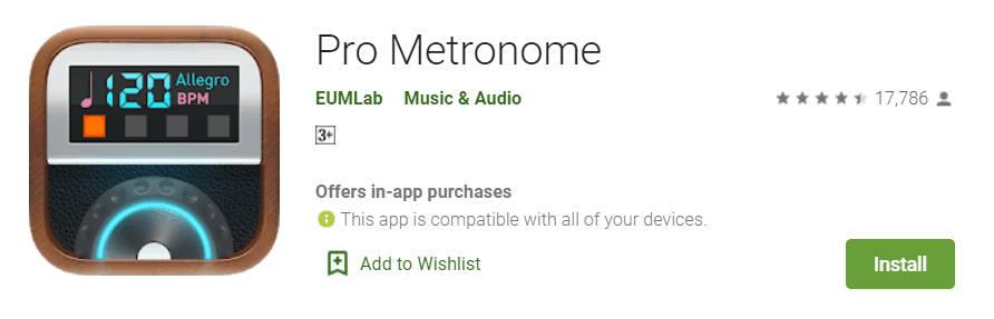 app for metronome - pro metronome