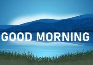 good morning lake and mountain image