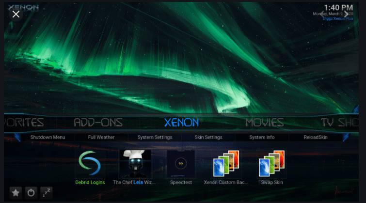 Diggz Xenon Matrix Kodi 19 builds
