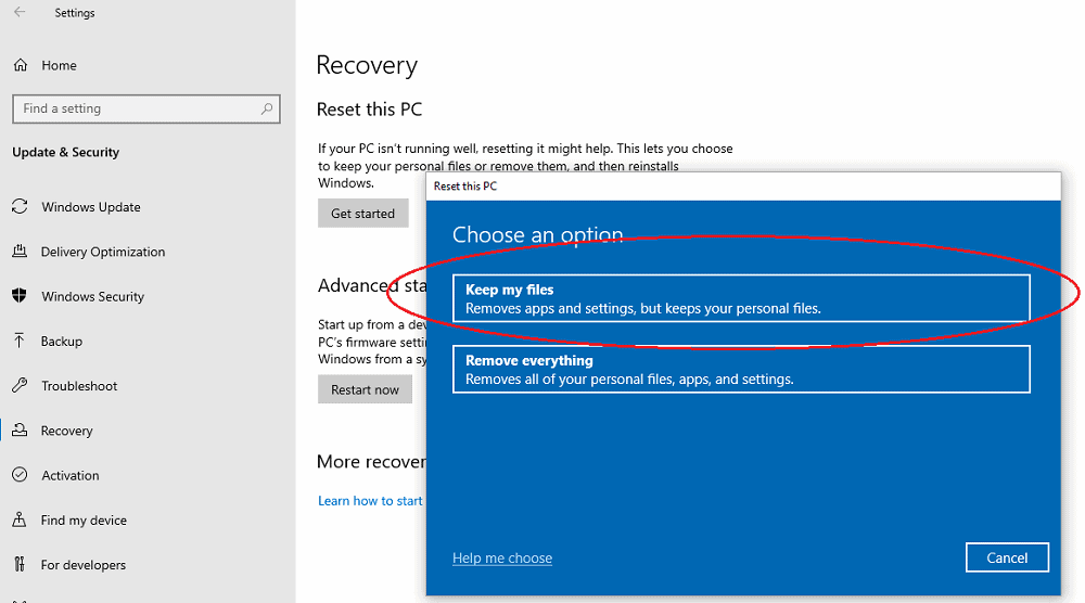 windows restart problem