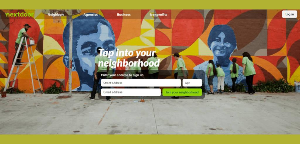 Nextdoor app for neighborhood updates