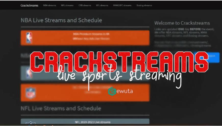Crackstreams interface