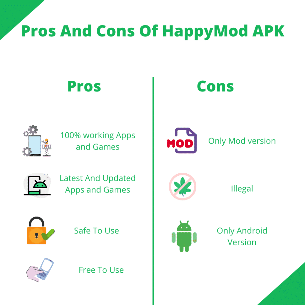 Pros And Cons Of HappyMod APK
