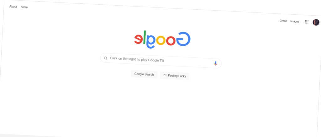 Askew tilt google tricks