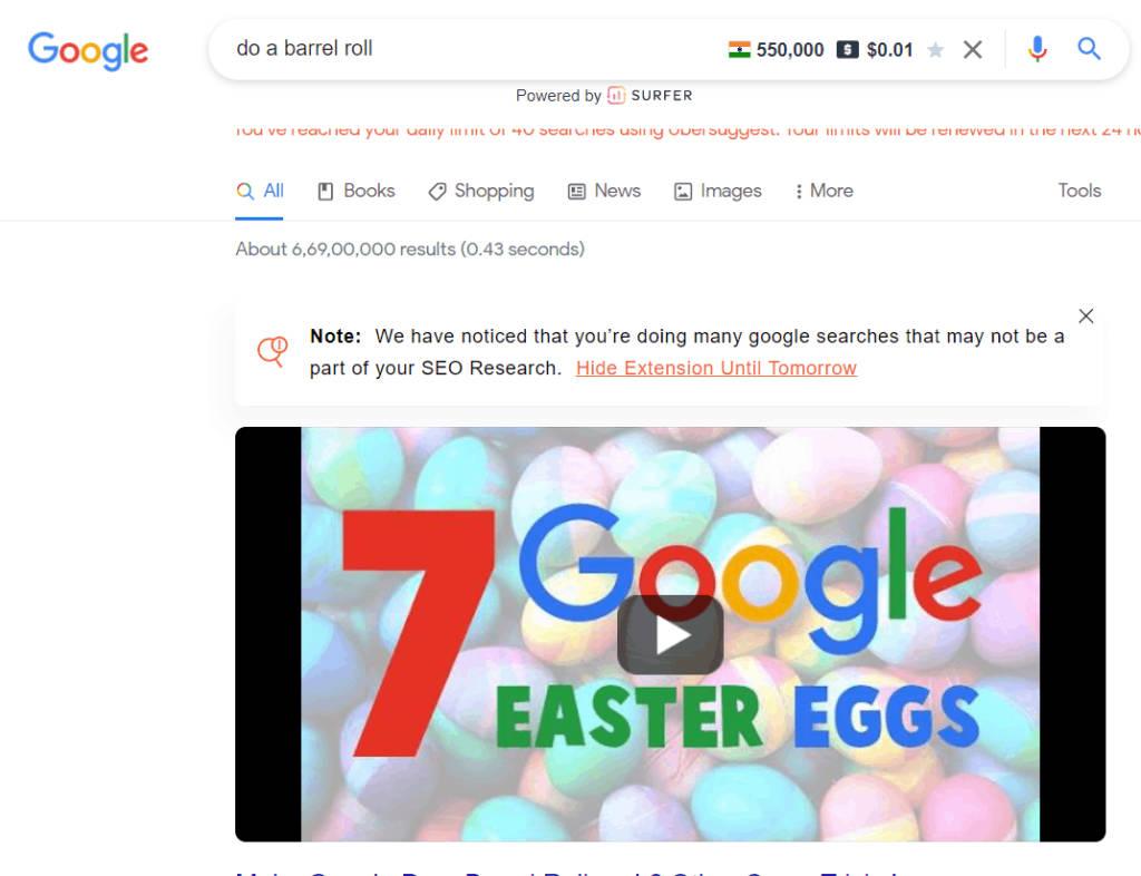 Google do a barrel roll