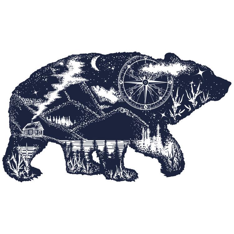 Midnight Blue Walking Bear