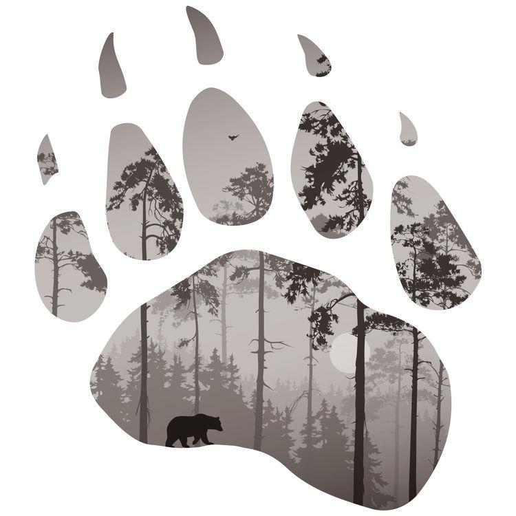 Sephia Forest Bear Paw