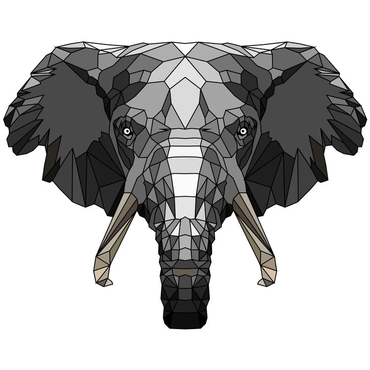 Dark Gray Elephant