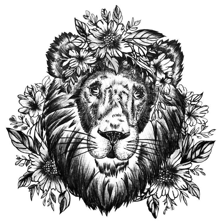 Floral Queen Lion