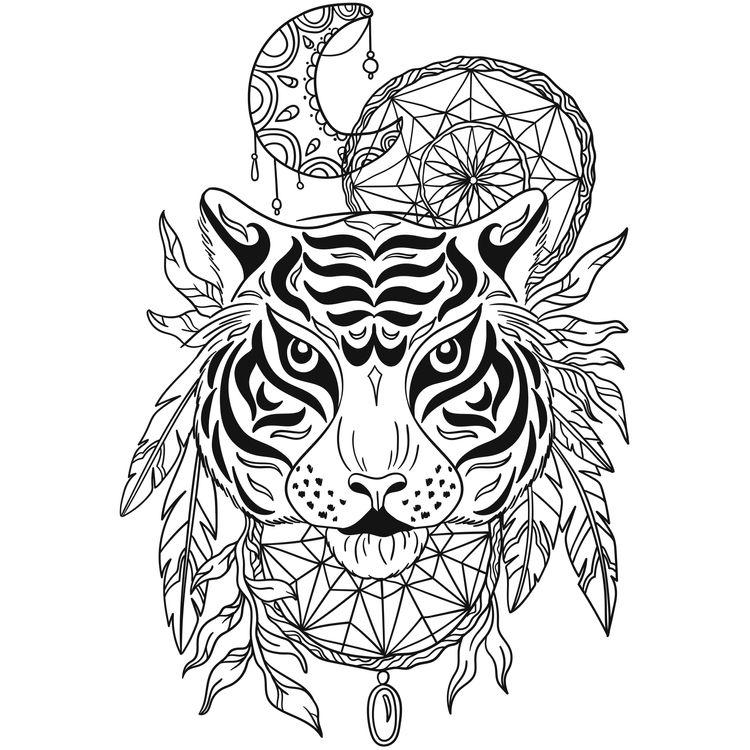 Tribal Moon Tiger