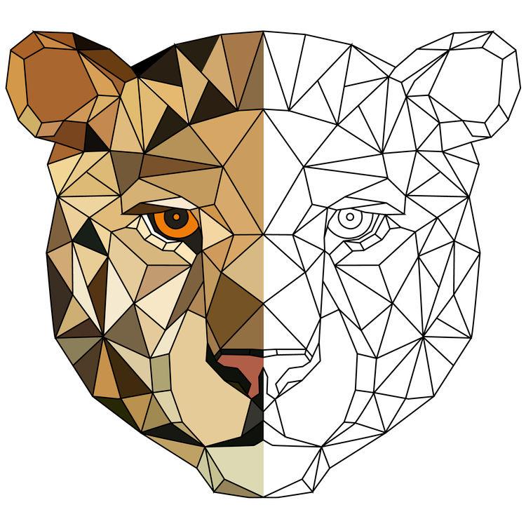 Geometric Lady Tiger