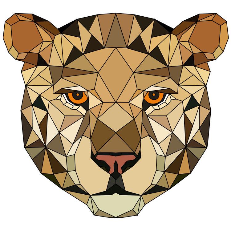 Full Face Lady Geometric Tiger